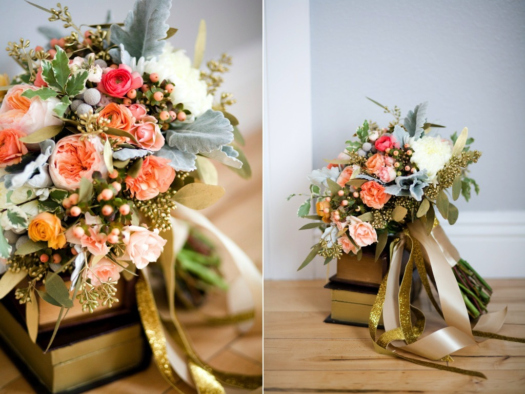 Pinky Gold Bridal Bouquet