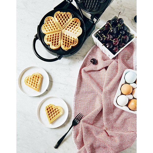 Crate and Barrel Wedding Registry - CucinaPro Heart Shaped Waffle Maker