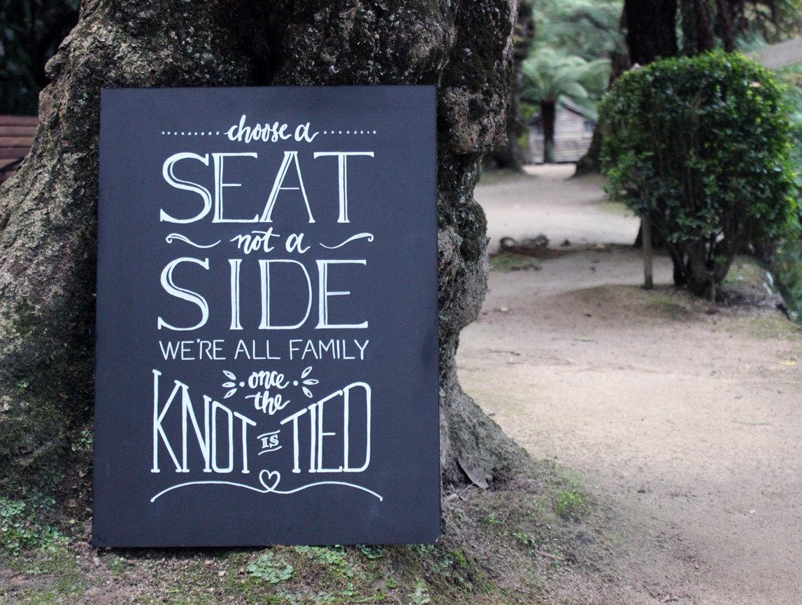 chalkboard inspired sign