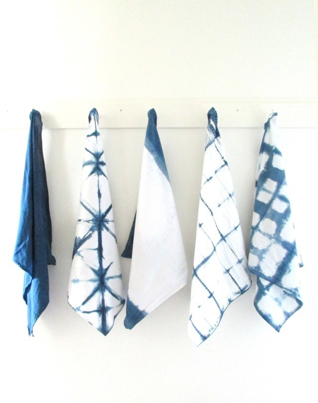 DIY indigo dyed linens