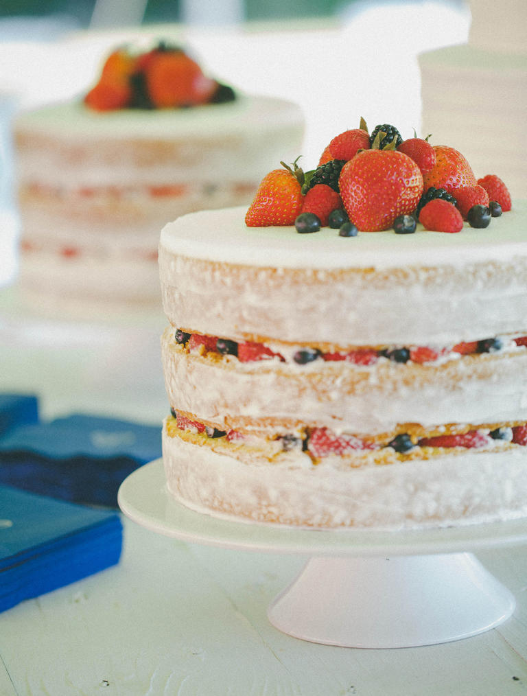 Fruit-Filled Naked Cake