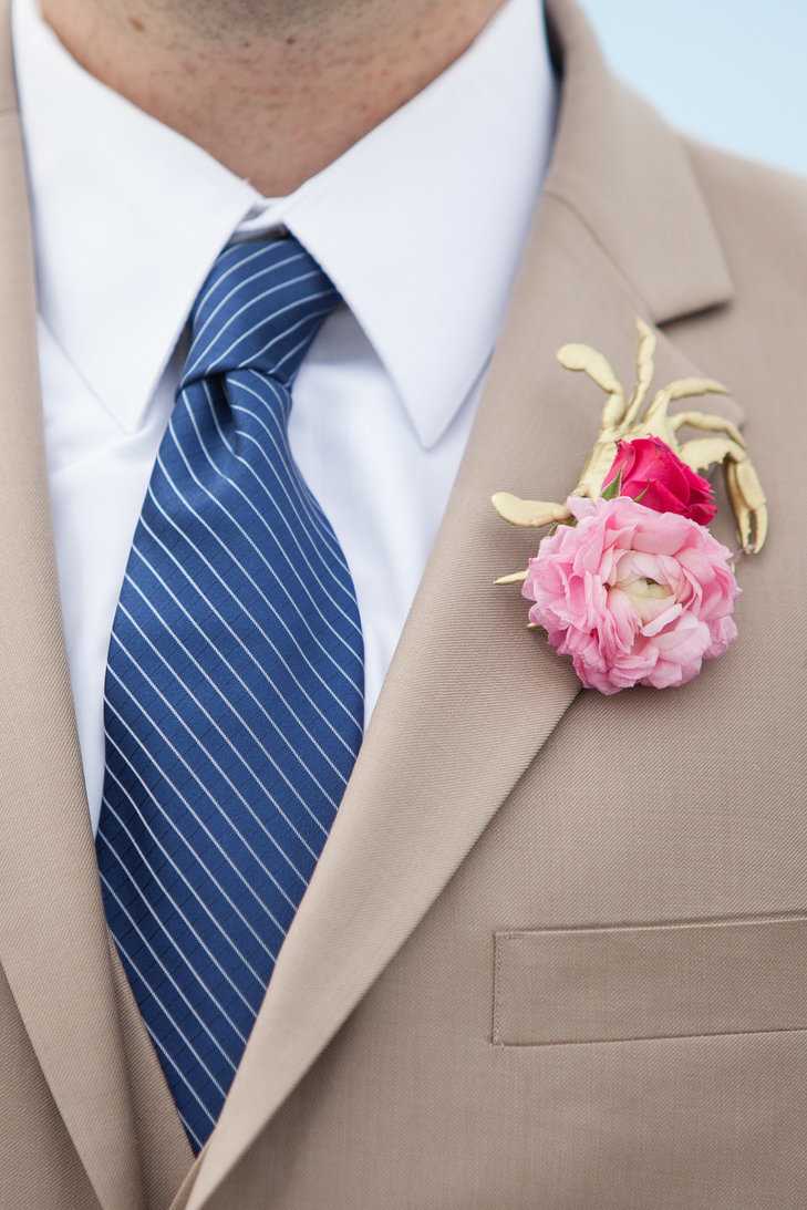 Fuchsia and Taupe Suit