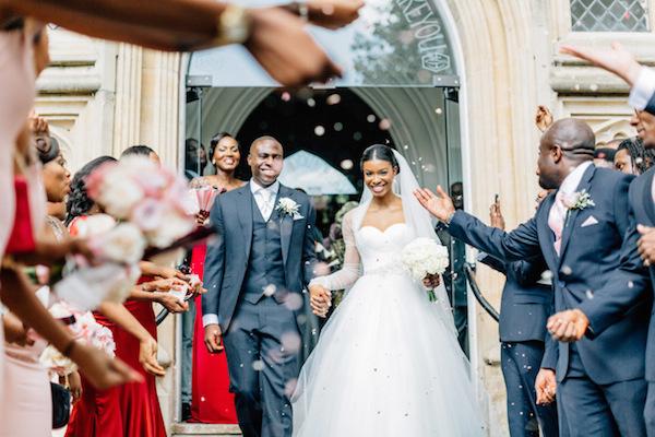 Sheer full sleeve wedding dress