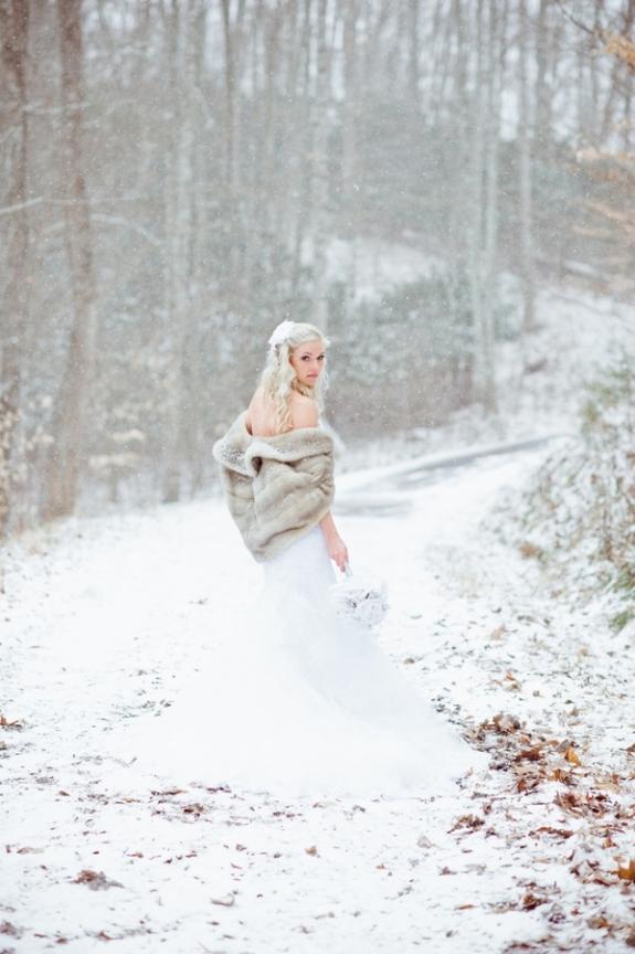 fur winter wedding