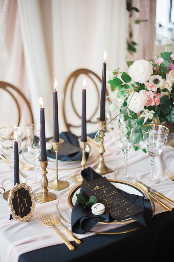 Navy Table Decor