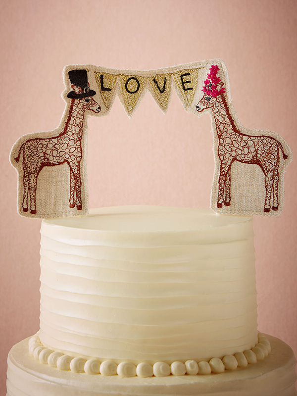 Cute giraffe cake topper