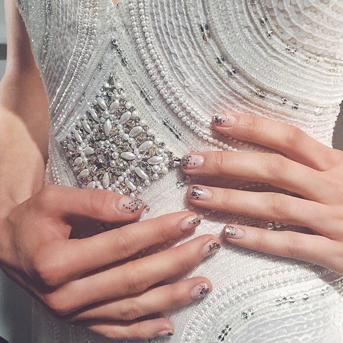 Glittered Nail Art