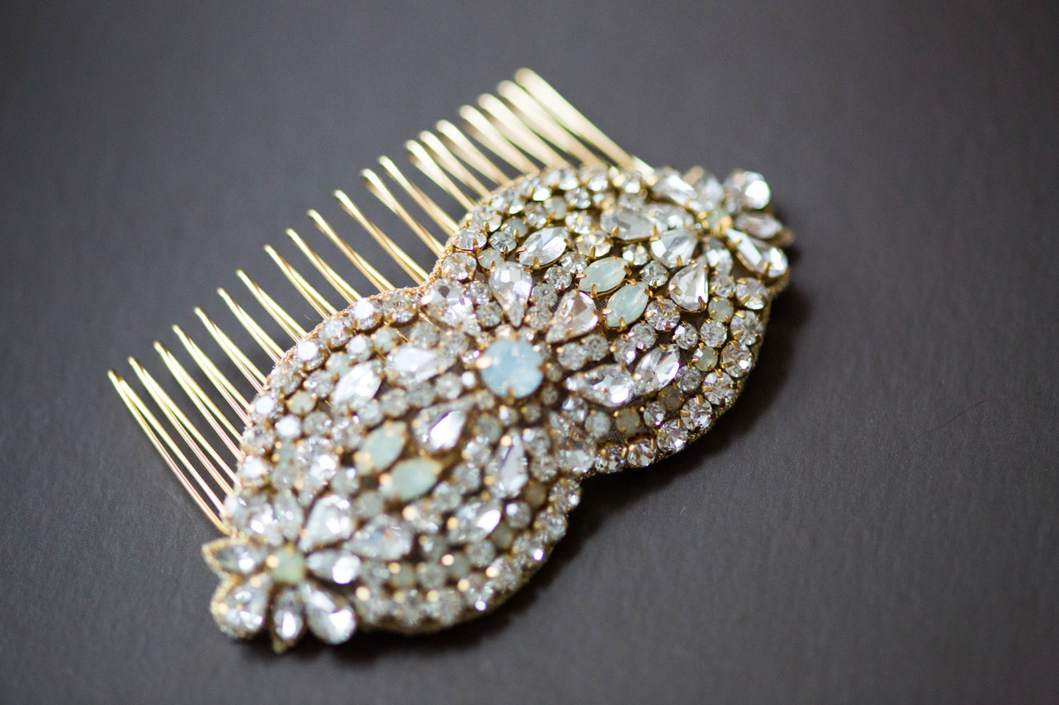 Gold and Opal Hair Comb