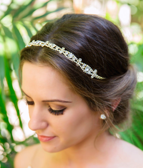 Gold crystal headpiece