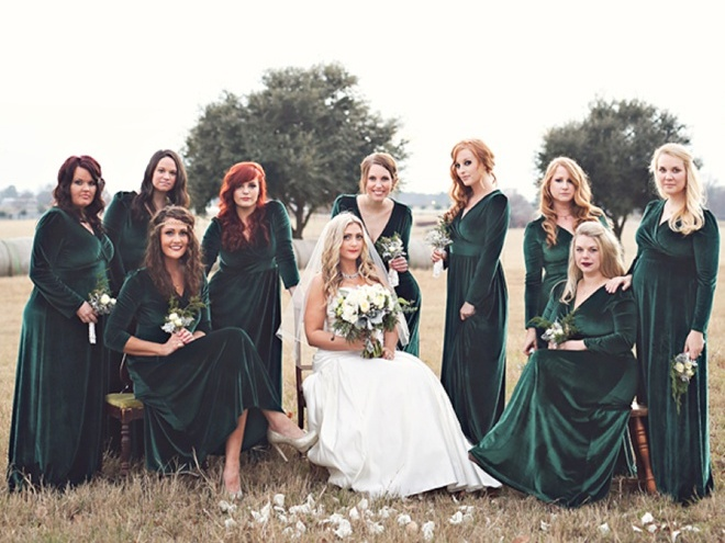 Pretty in Plush Bridesmaids