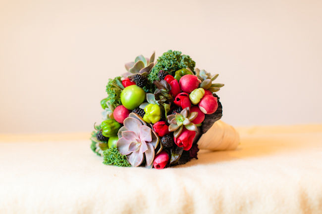 DIY Farmer's Market Bouquet by Green Wedding Shoes