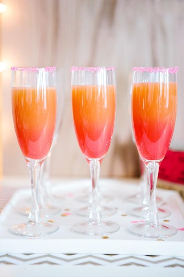 ombre grapefruit cocktail