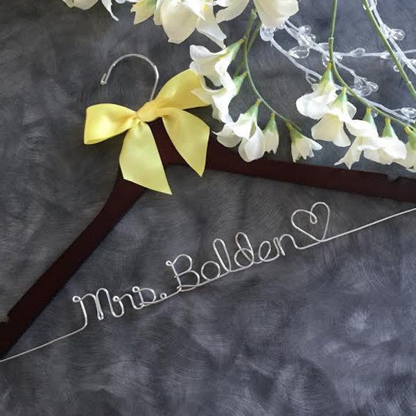 Personalized wedding hanger