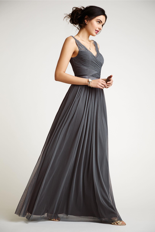 gray tulle dress