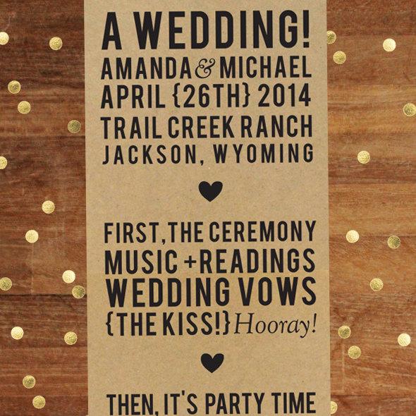 minimal wedding program