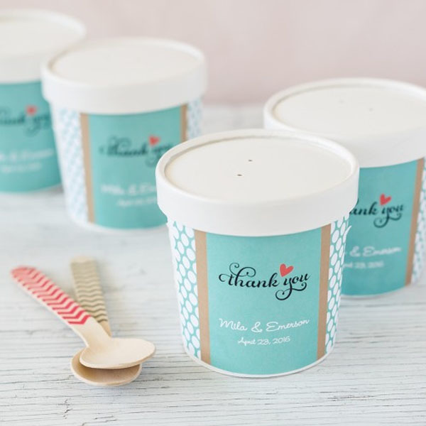 Personalized pint containers