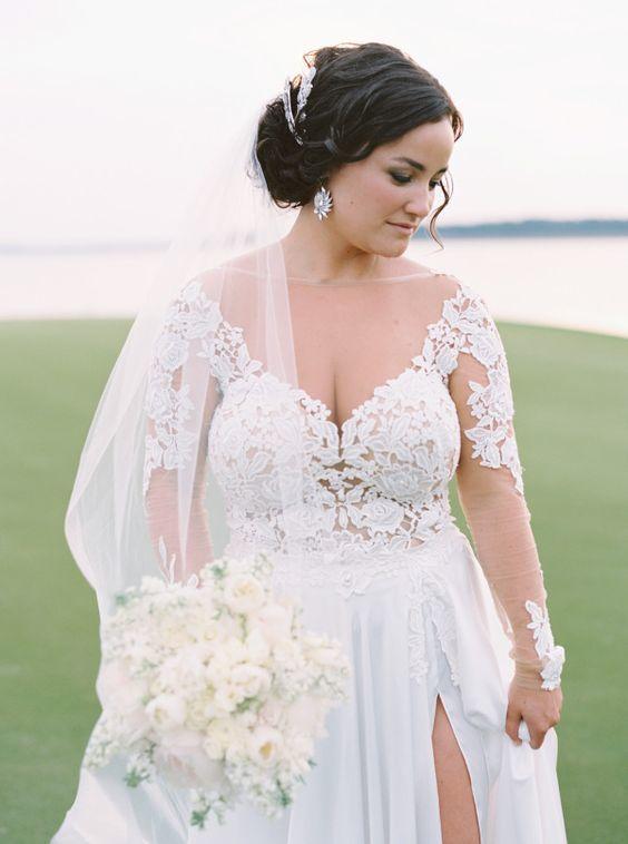 Illusion wedding dress