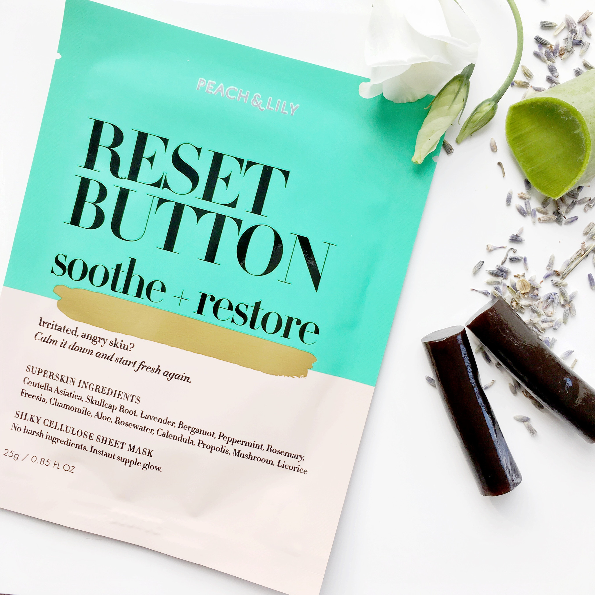 Peach and Lily Reset Button Soothe + Restore Sheet Mask