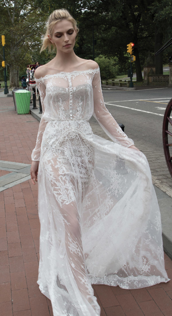 overlay wedding dress