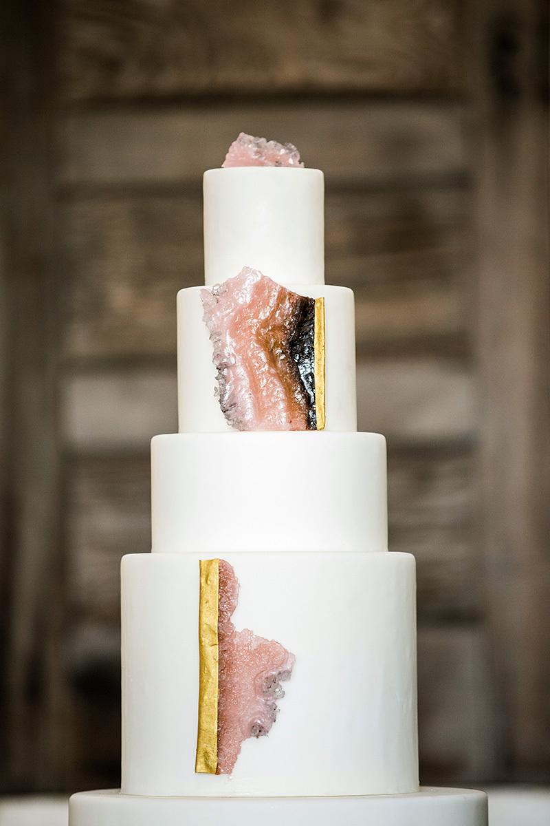 rose quartz cake