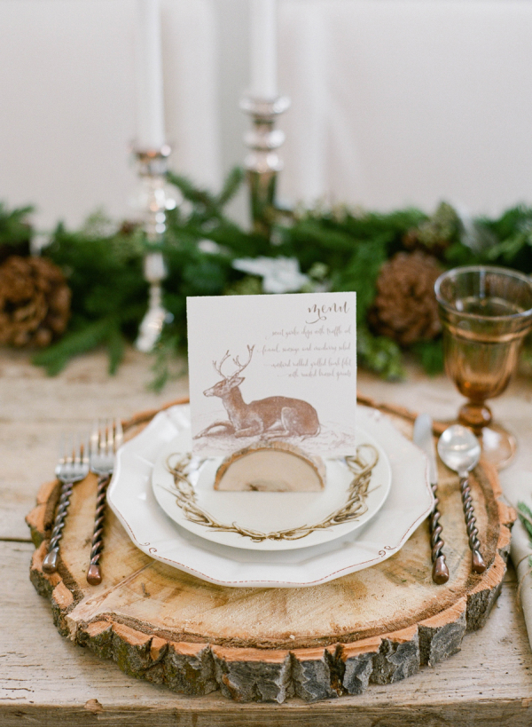woodsy place setting