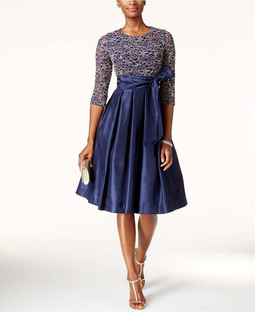 a-line MOB dress