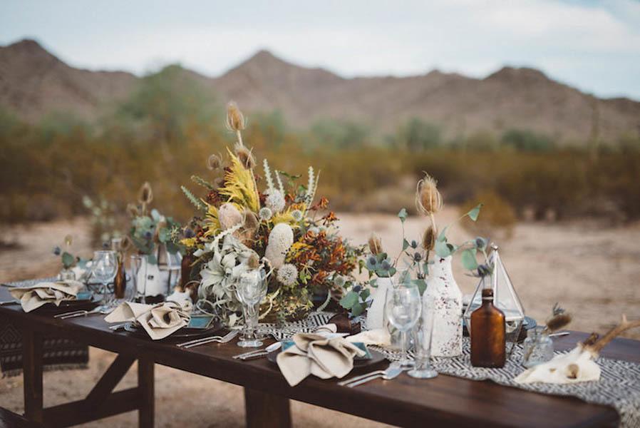 fall desert tablescape