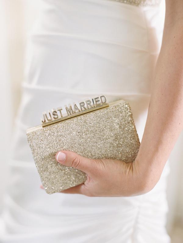 Just married wedding clutch