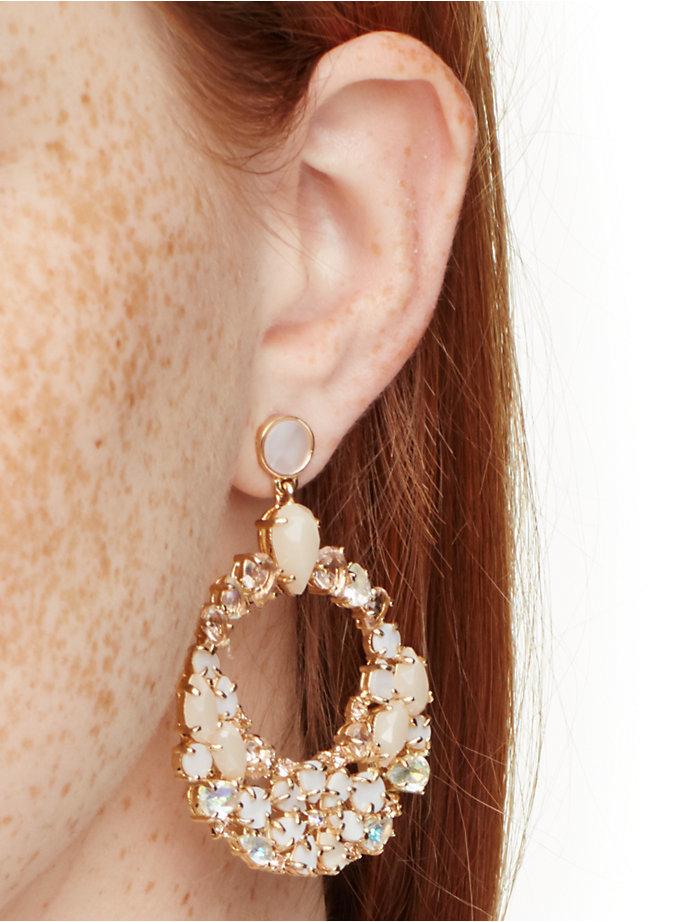 blush statement earrings