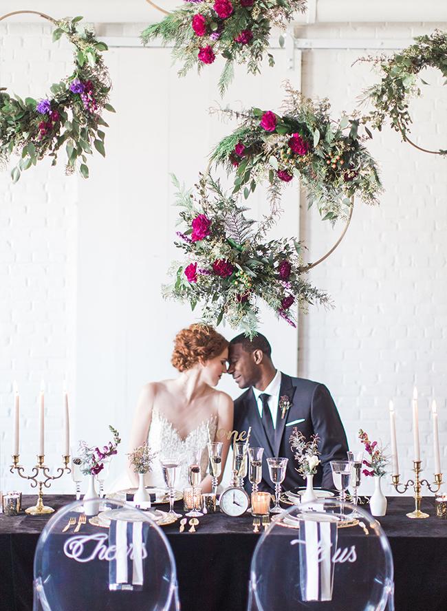 hoop floral wedding backdrop