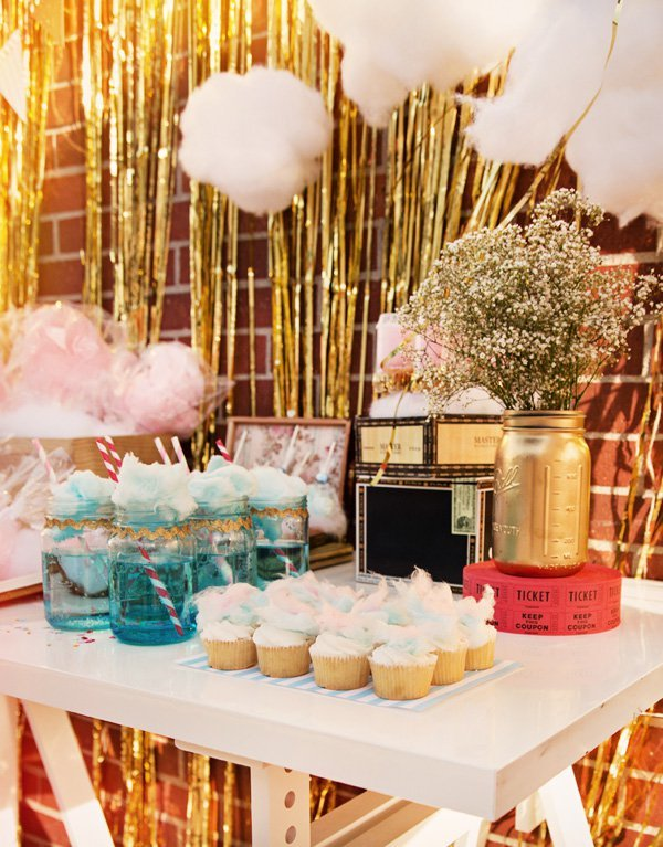 cotton candy tablescape