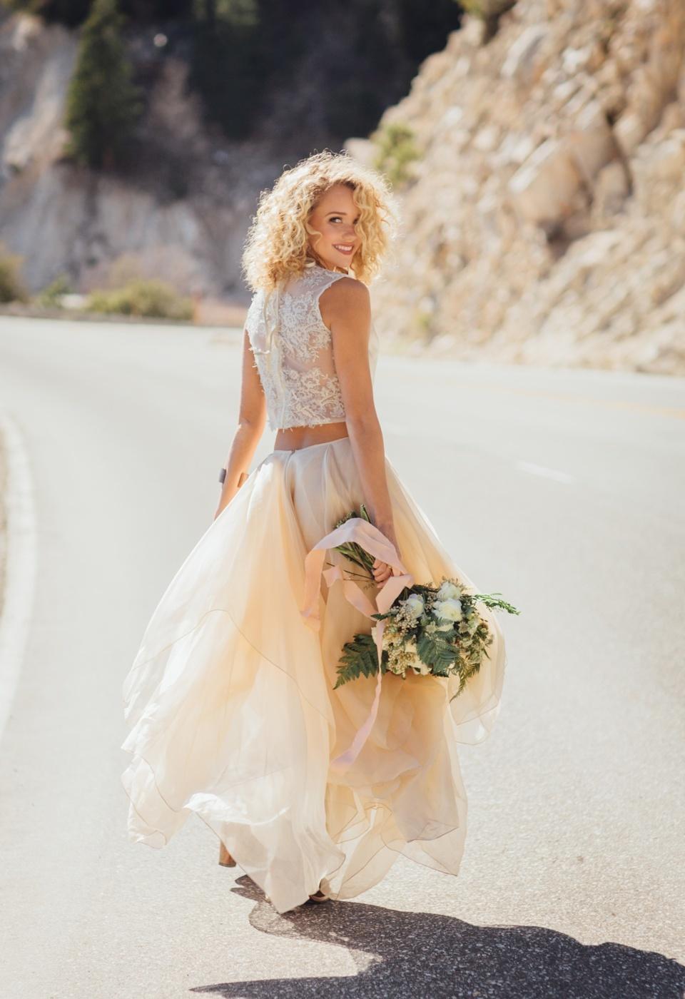 Wedding Dress Two Piece