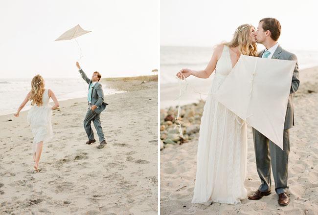 kite wedding photoshoot