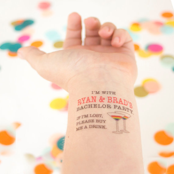 LGBT Wedding Bachelor Party Tattoos by KristenMcGillivray
