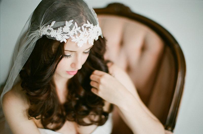 floral lace veil