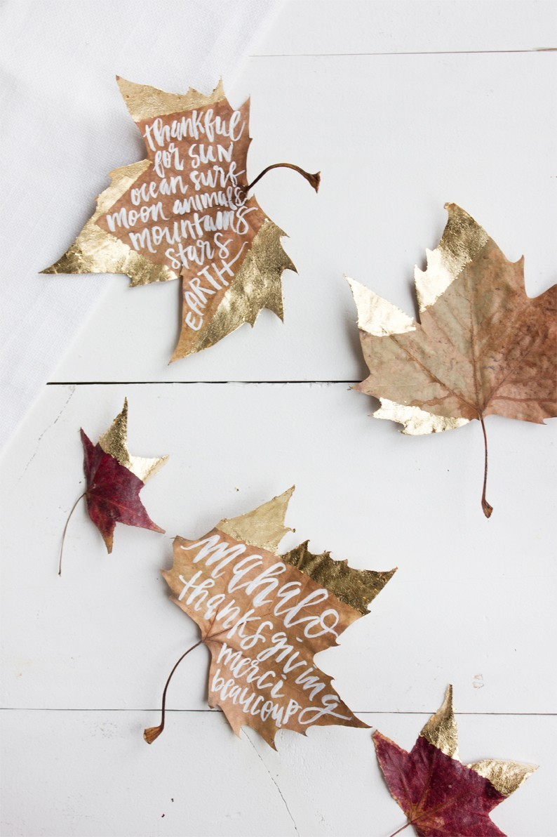 gold dipped leaves