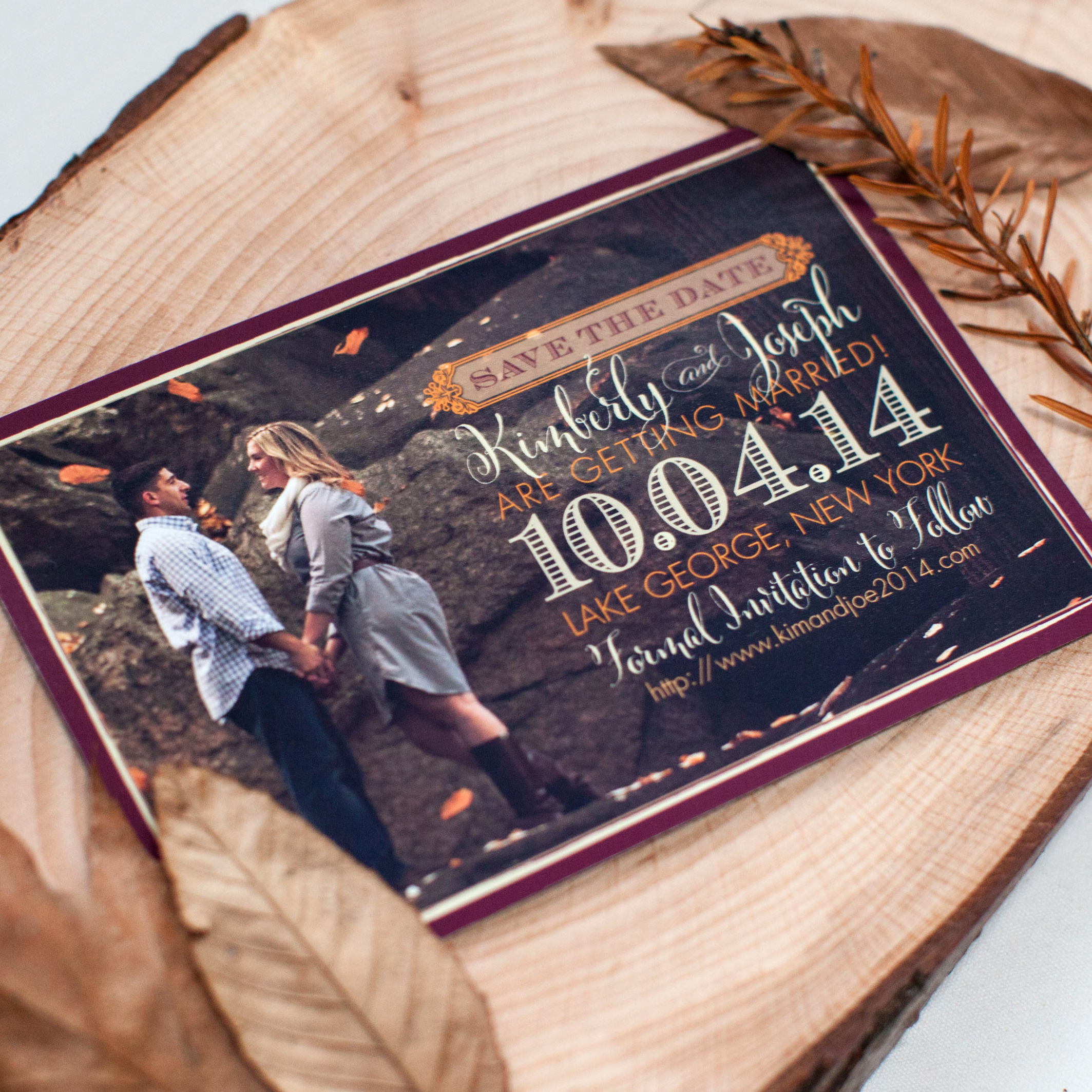 Fall Wedding Save-the-Date