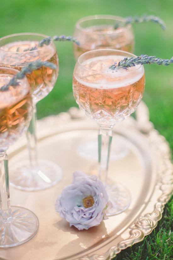 lavender champagne cocktails