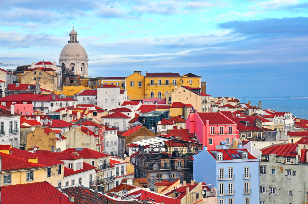 colorful buildings in Lisbon, Portugal