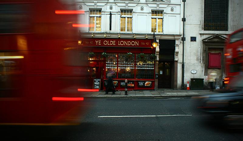 London pub from street