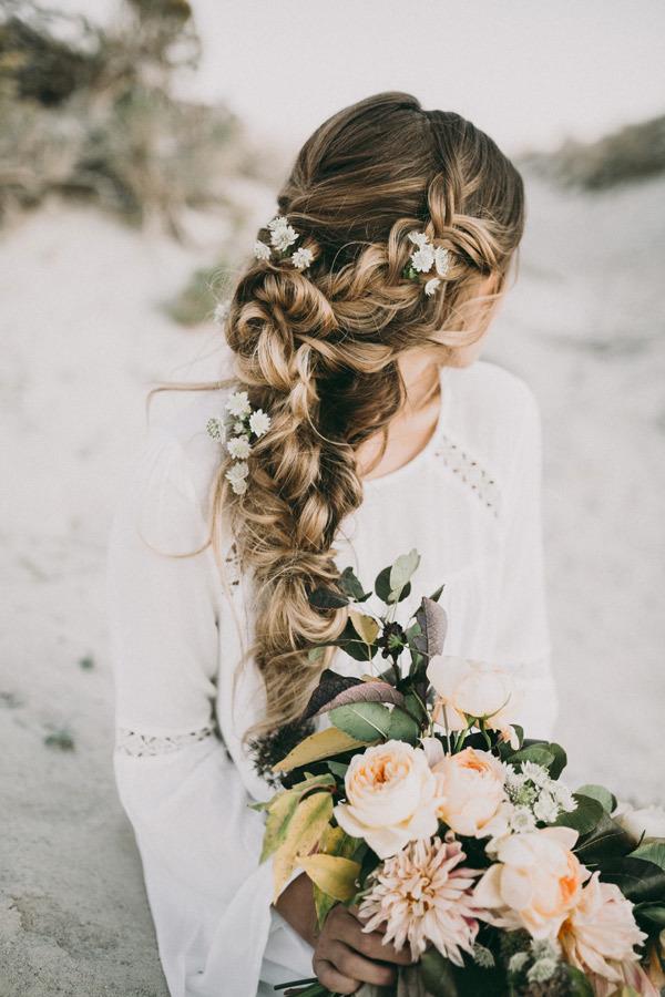 Long braid for weddings
