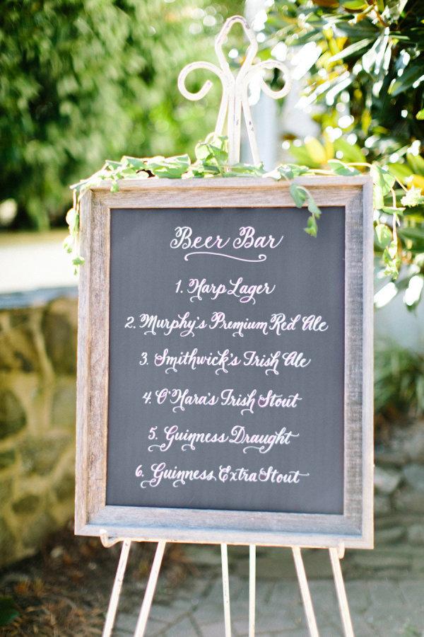 chalkboard beer sign
