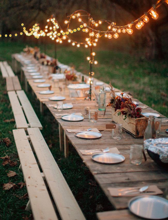 outdoor fall reception