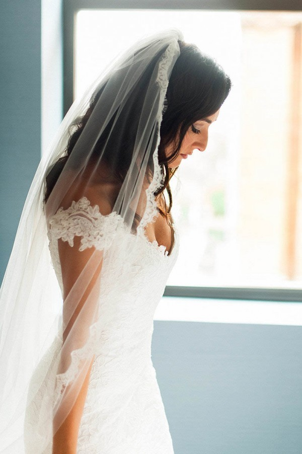 v neckline wedding dress