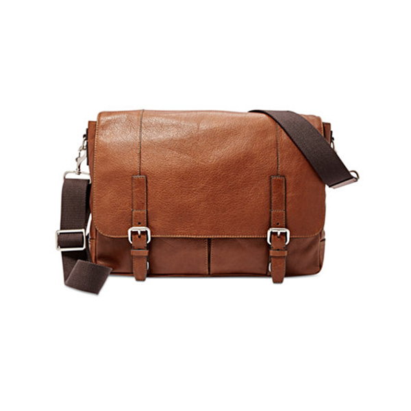 Macy's leather messenger bag