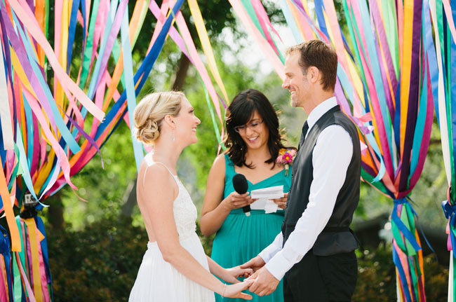 ceremony ribbon arch