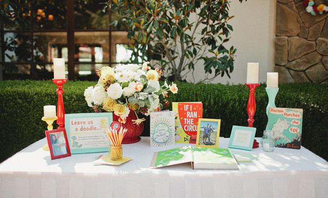 Seuss themed table