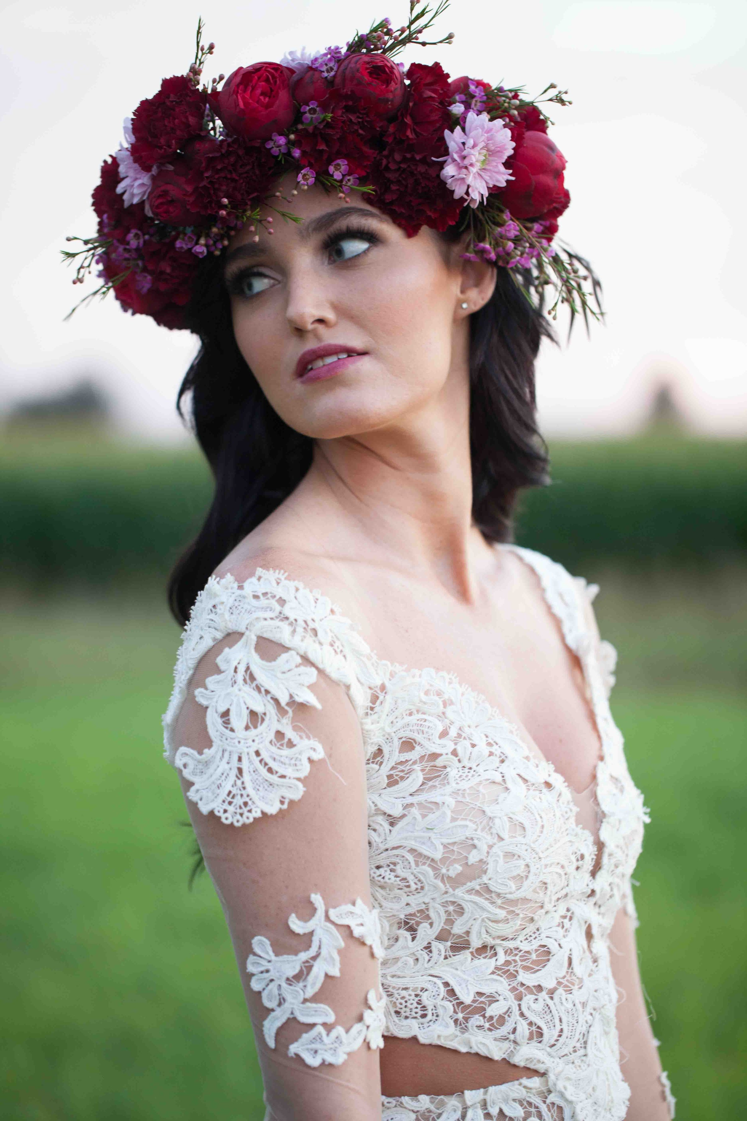 jewel tone flower crown
