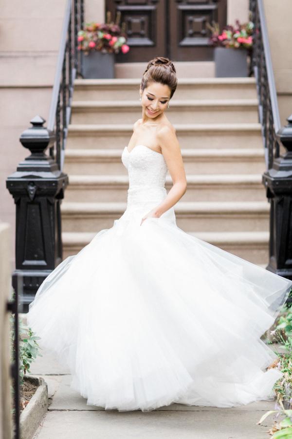 Half mermaid wedding dress