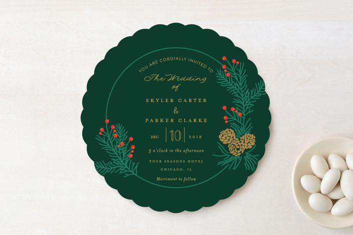 wedding invitation coaster